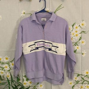 Vintage lavender Reebok collared sweater